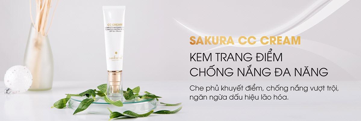 Kem trang điểm chống nắng CC Cream Sakura