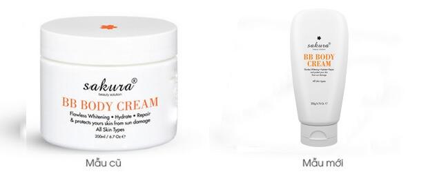 em dưỡng trắng da trang điểmtoàn thân Sakura Skin Whitening BB Body Cream