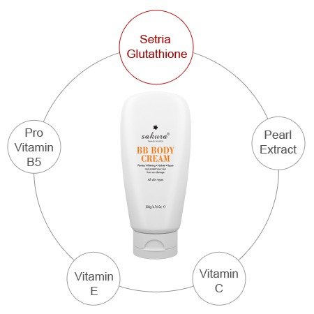 Kem trang điểm toàn thân Sakura BB Body Cream