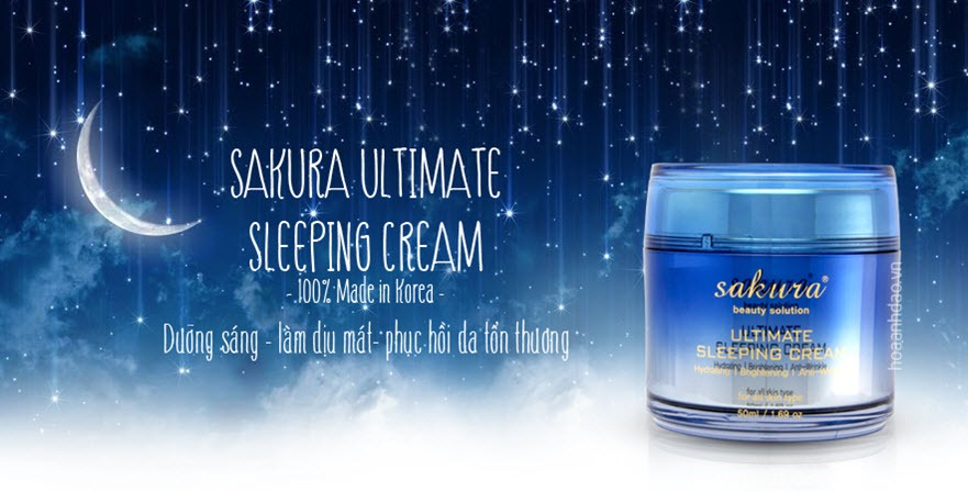 Mặt nạ ngủ trẻ hóa da Sakura Ultimate Sleeping Cream