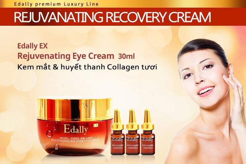 Kem mắt và huyết thanh collagen tươi Edally Ex