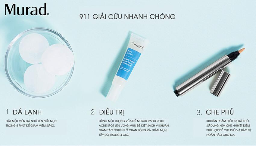 Cách sử dụng gel trị mụn trong 4 giờ Murad