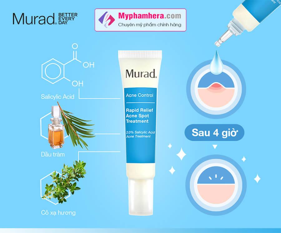 thành phần gel trị mụn murad myphamhera.com
