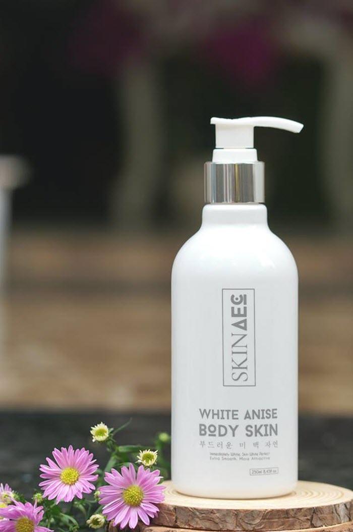 Sữa tắm kích trắng Skin AEC có tốt không