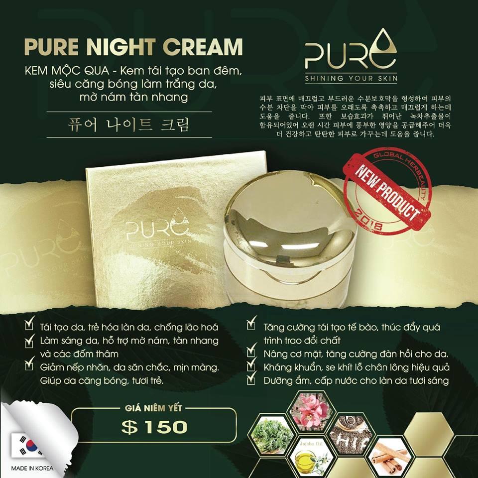 Kem Mộc Qua Dưỡng Trắng Da Pure Night Cream