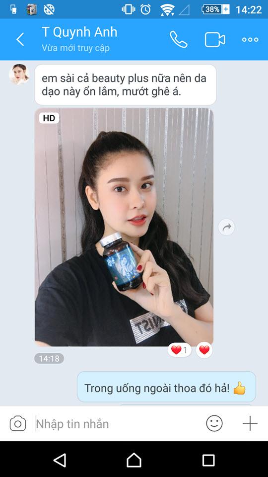 Trương Quỳnh Anh review viên uống trắng da Beauty Plus