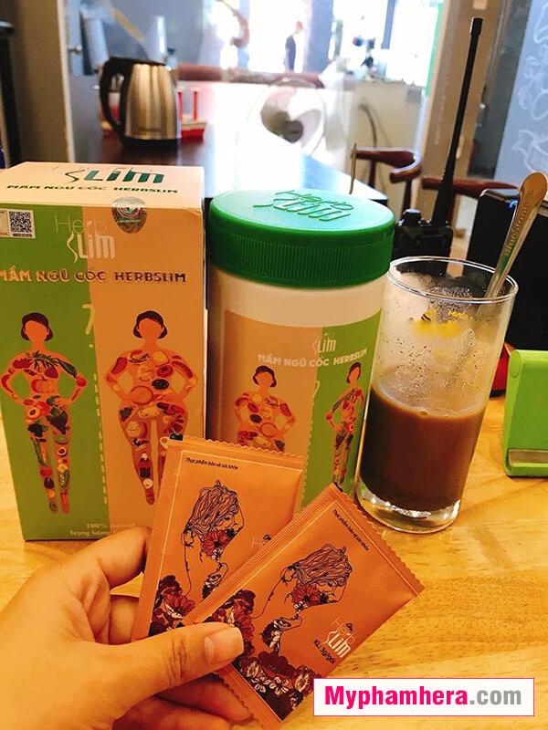hướng dẫn sử dụng mầm ngũ cốc herbslim mỹ phẩm hera
