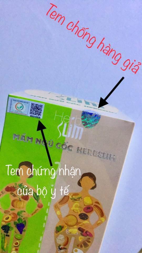 mầm ngũ cốc herbslim chính hãng mỹ phẩm hera