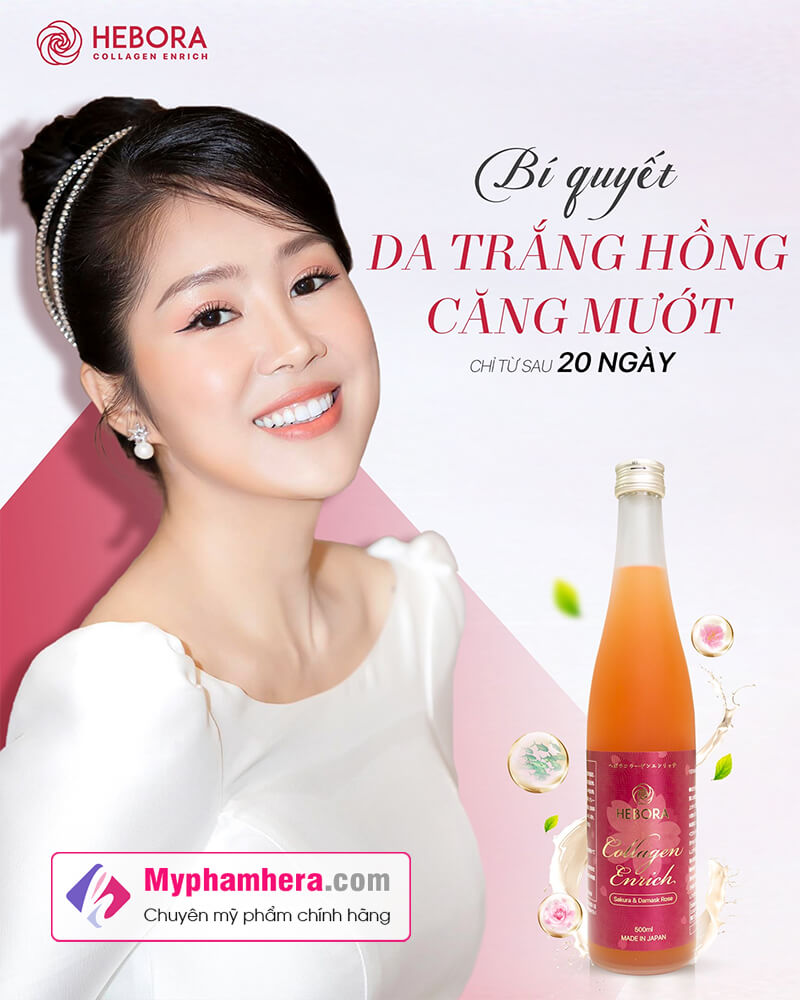 banner nước uống collagen hebora enrich lê phương myphamhera.com