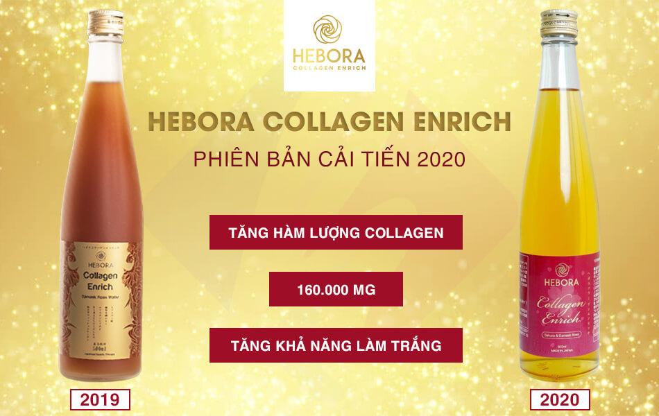 Nước uống collagen Hebora mẫu mới 2020