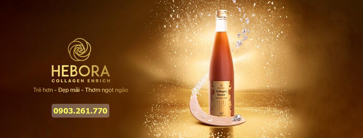 Nước uống đẹp da collagen Hebora
