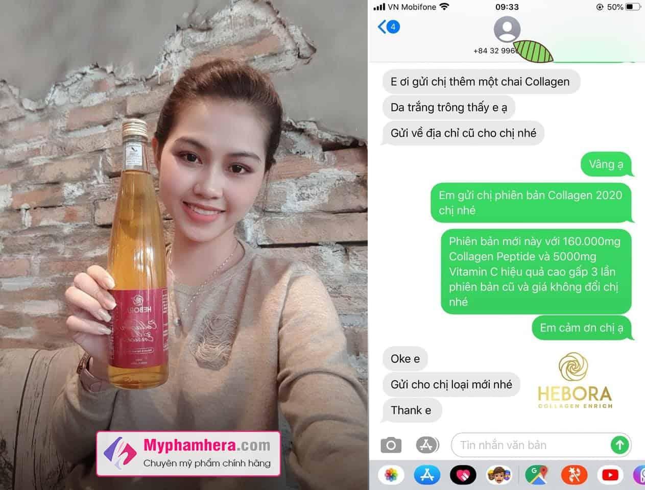 nước uống hebora collagen enrich có tốt không myphamhera.com