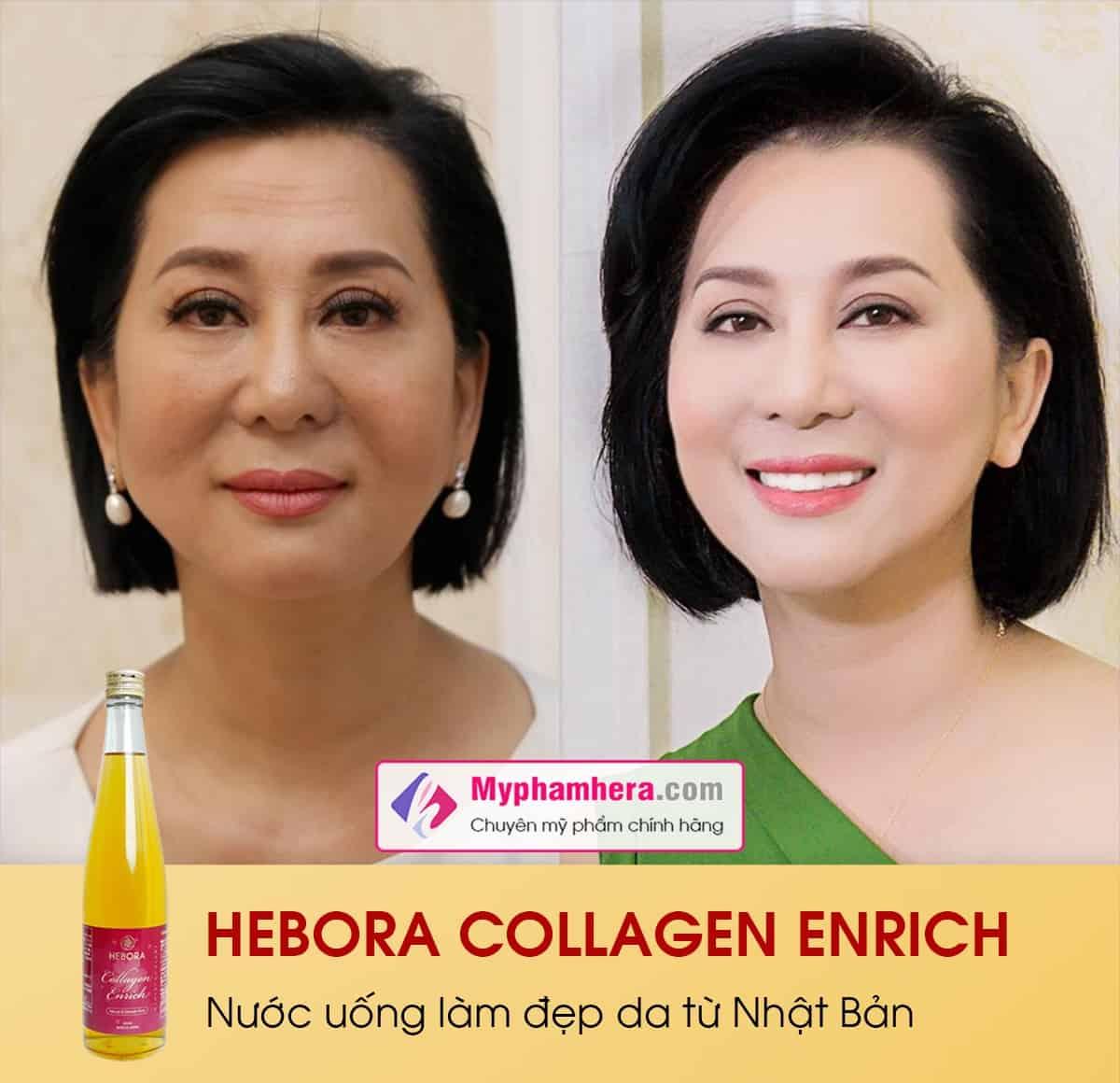 review nước uống hebora collagen enrich có tốt không myphamhera.com