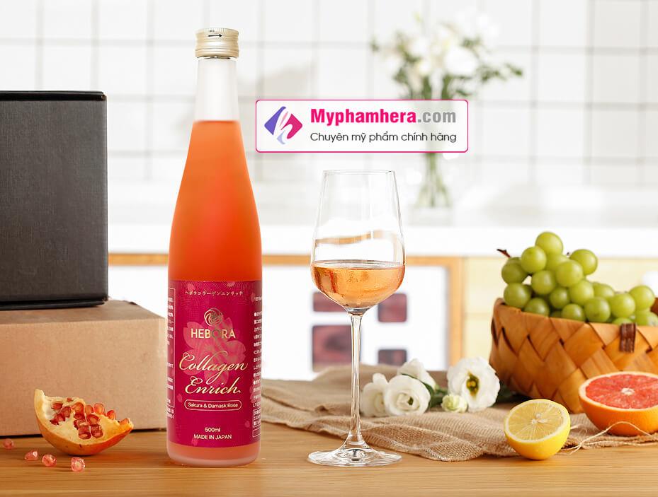 thành phần nước uống collagen hebora myphamhera.com