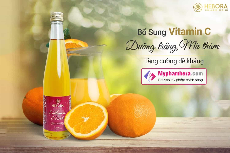 thành phần nước uống hebora collagen enrich japan myphamhera.com