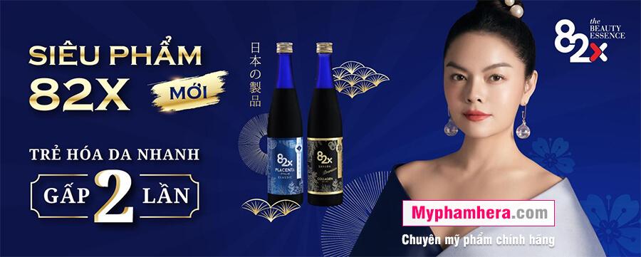 banner nước uống collagen 82x sakura placenta mỹ phẩm hera