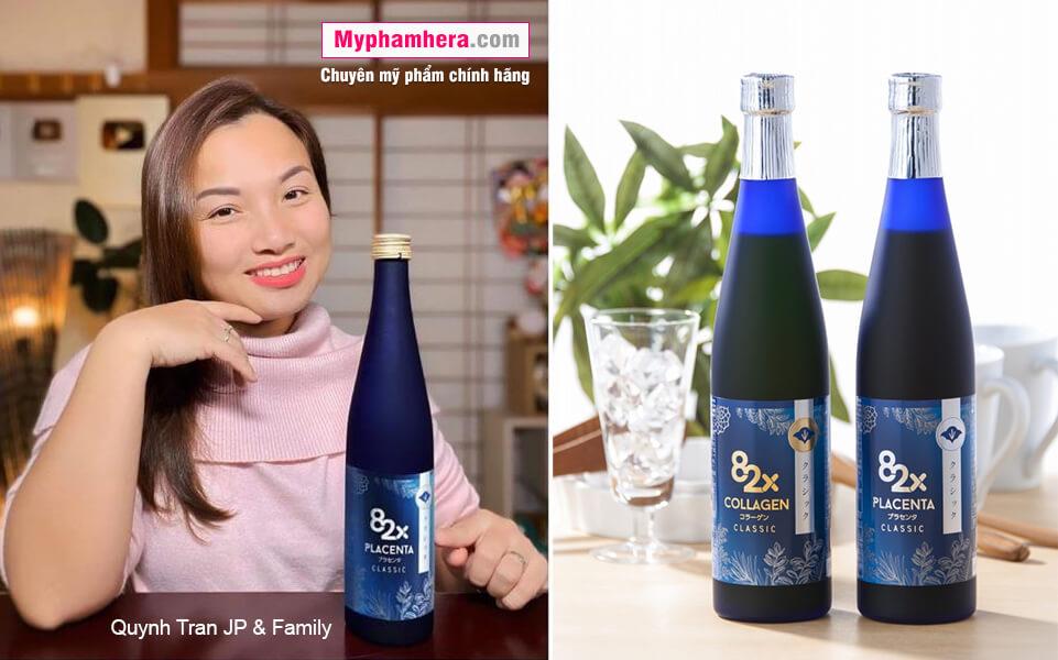 hướng dẫn sử dụng nước uống collagen 82x sakura placenta quỳnh trân mỹ phẩm hera