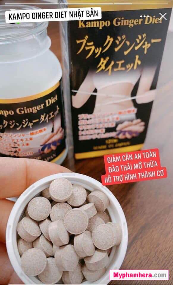 hướng dẫn sử dụng viên uống giảm cân kampo nhật bản mỹ phẩm hera