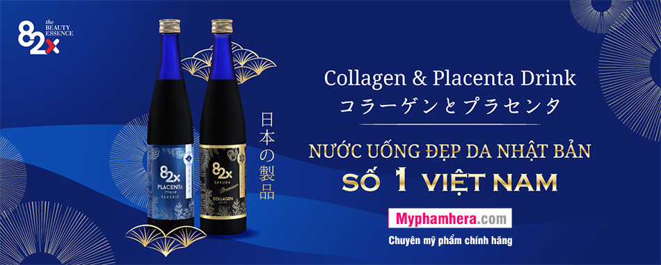thành phần nước uống collagen 82x sakura placenta mỹ phẩm hera