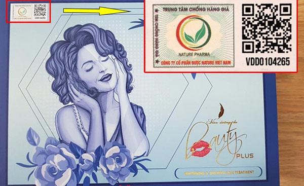 tem chống hàng giả của viên uống beauty plus