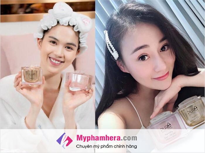 Công dụng và cảm nhận trên da kem mộc qua Pure Hàn Quốc_myphamhera.com