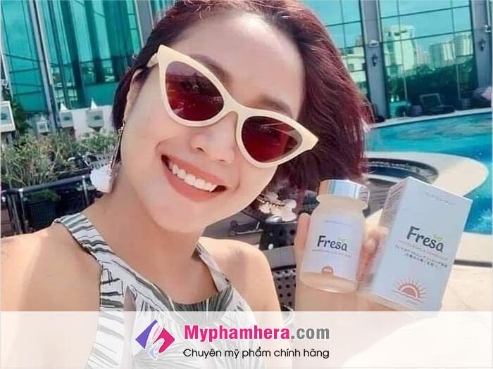 Công dụng và cảm nhận trên da Fresa_myphamhera.com
