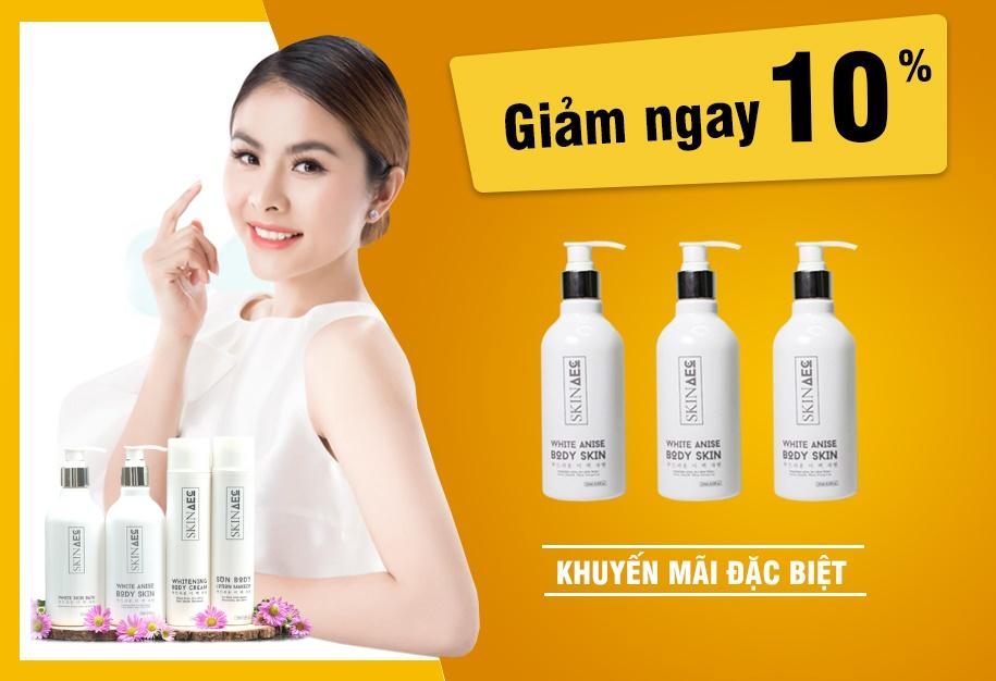 khuyến mãi giảm giá 10% skin aec