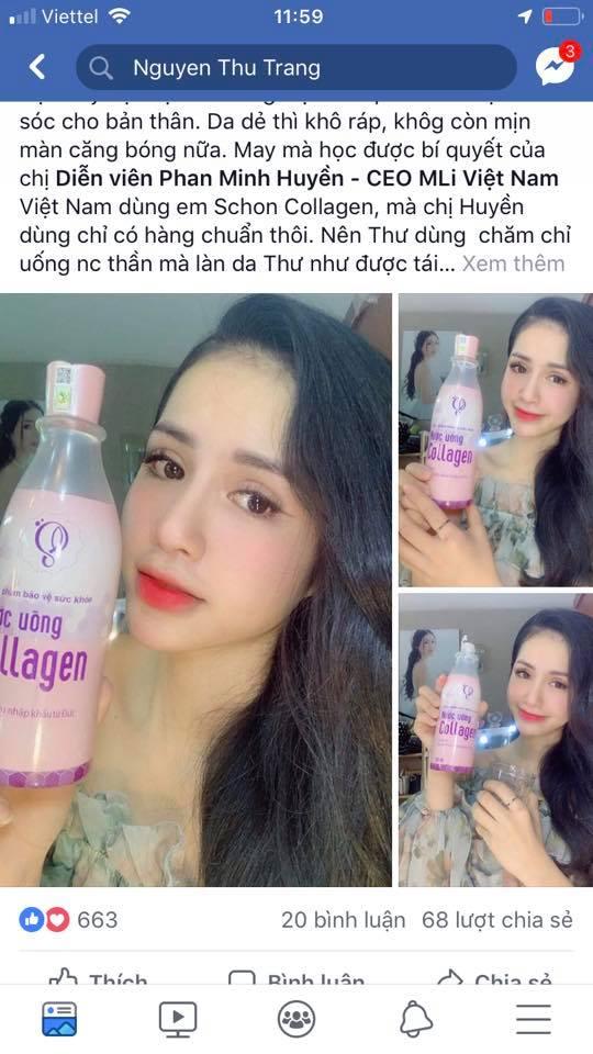 review nước uống collagen tươi schon có tốt không mỹ phẩm hera