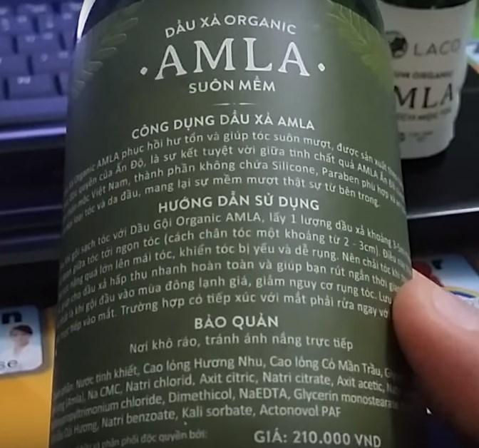 Công dụng dầu xả AMLA LACO