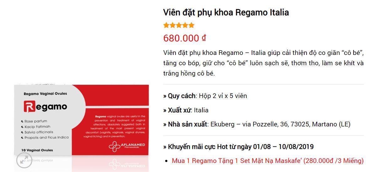 Giá của REGAMO