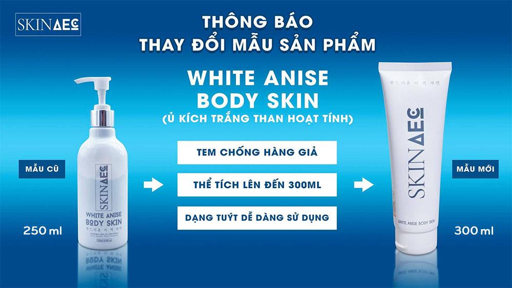 Tắm trắng Skin AEC mẫu mới