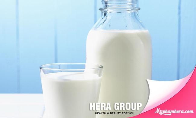 cách làm trắng da hiệu quả bằng sữa tươi