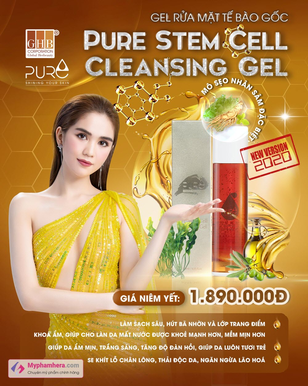 Gel rửa mặt tế bào gốc Pure