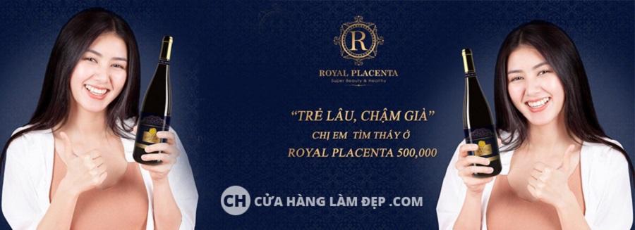 banner nước uống royal placenta nhật bản