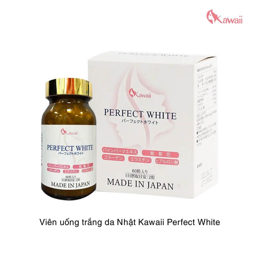 công dụng viên uống trắng da perfect white kawaii mỹ phẩm hera