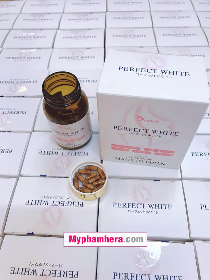 viên uống trắng da perfect white kawaii chính hãng mỹ phẩm hera