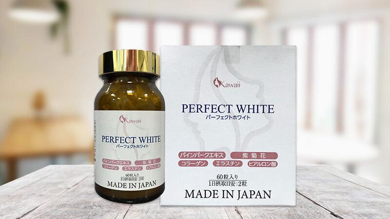 viên uống trắng da kawai perfect white nhật bản mỹ phẩm hera