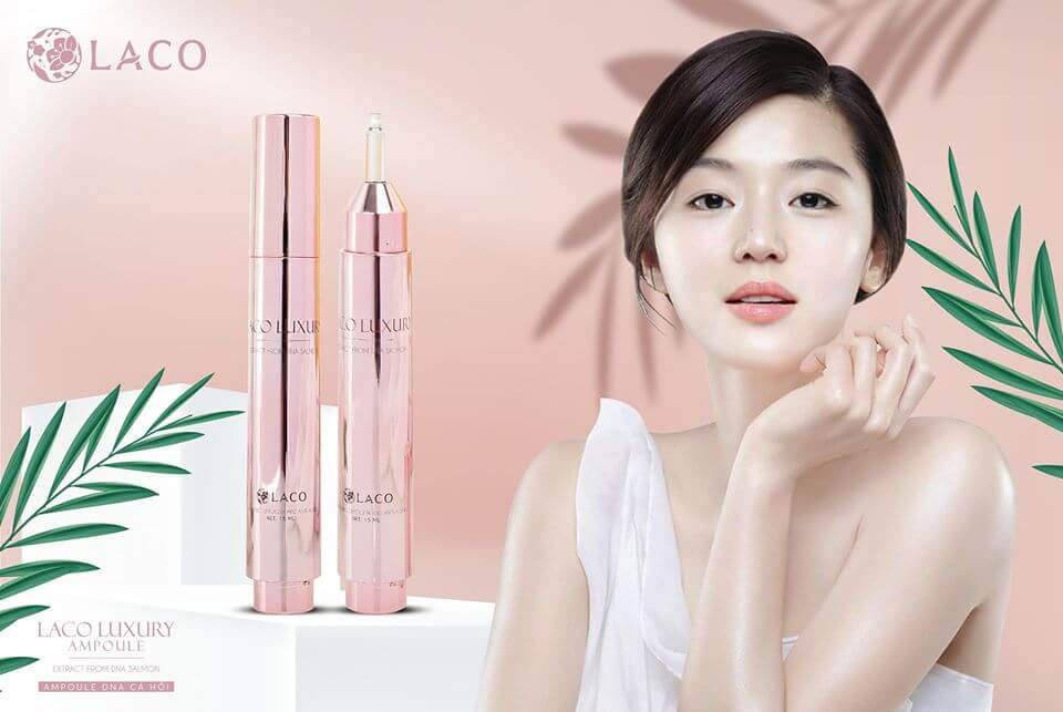 banner serum laco luxury ampoule tinh chất dna cá hồi