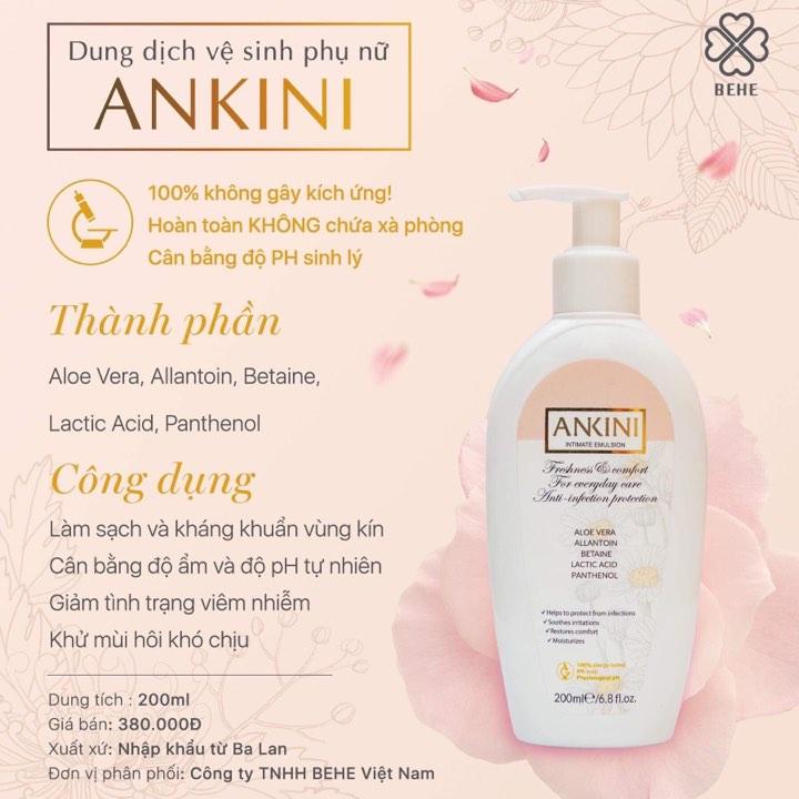 Dung dịch vệ sinh phụ nữ Ankini