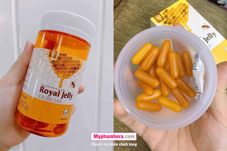 hướng dẫn sử dụng viên uống sữa ong chúa royal jelly schon mỹ phẩm hera
