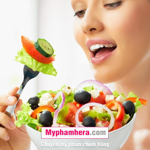cách chăm sóc da khô bằng cách ăn nhiều rau quả mỹ phẩm hera