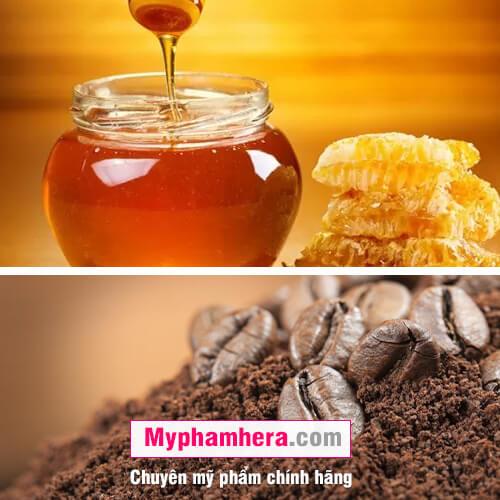 cách tẩy tế bào da chết bằng bã cà phê và mật ong mỹ phẩm hera