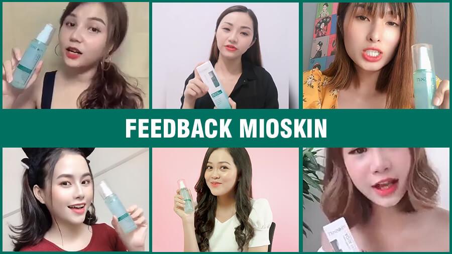 feedback của khách hàng về xịt khoáng mioskin mỹ phẩm hera