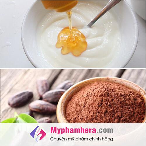cách làm trắng da toàn thân bằng bột cacao mật ong sữa chua mỹ phẩm hera