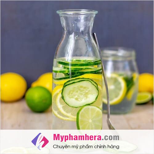 hướng dẫn cách làm nước detox chống lão hóa tại nhà mỹ phẩm hera