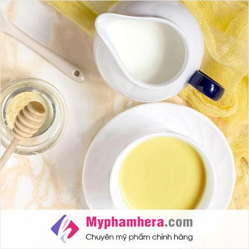 hướng dẫn cách làm trắng da toàn thân bằng bột nghệ sữa tươi mật ong mỹ phẩm hera