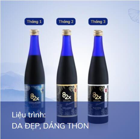 liệu trình nước uống collagen 82x sakura placenta mỹ phẩm hera