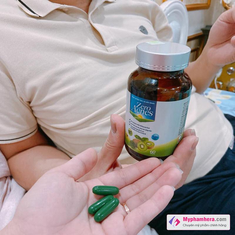 Review Viên Uống Hoa Quả Zero Acnes