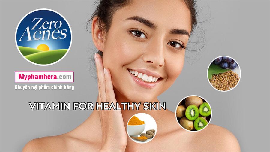 thành phần viên uống hoa quả zero acnes mỹ phẩm hera