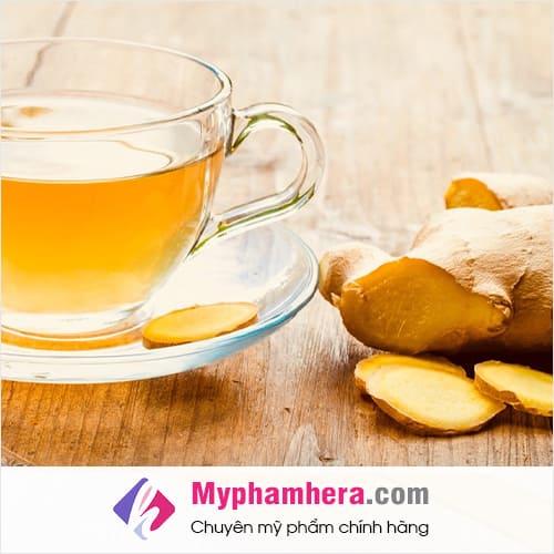 trà gừng là loại nước uống thanh lọc giải độc cơ thể mỹ phẩm hera